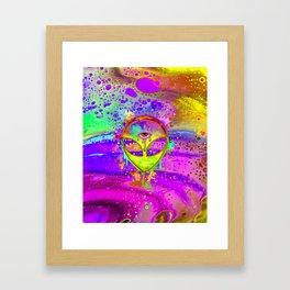Alien Melt - yellow Framed Art Print