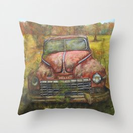 Old Vintage I Throw Pillow