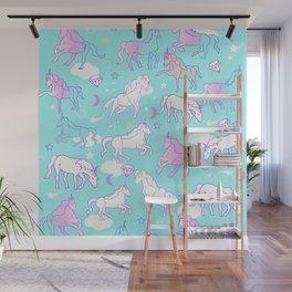 Unicorns In The Sky Wall Mural
