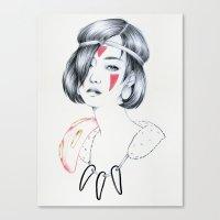 mononoke Canvas Prints featuring Mononoke by Marika Tamiazzo
