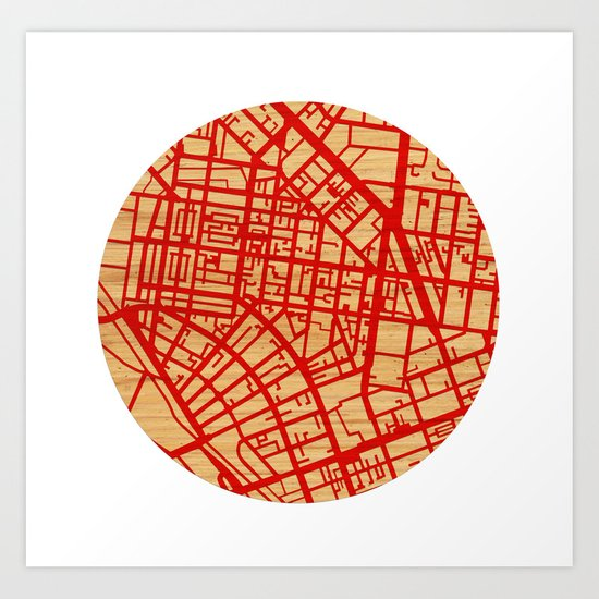 Map of the Town Art Print