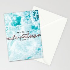 Adventure Begins - Perfect Sea Waves Stationery Cards