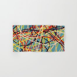 Colored Line Chaos #2 Hand & Bath Towel