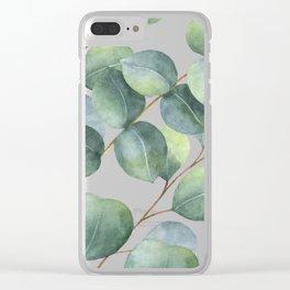 Eucalyptus pattern Clear iPhone Case