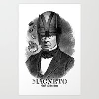 magneto Art Prints featuring MAGNETO by DIVIDUS