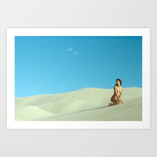 in the still sands of leave Art Print