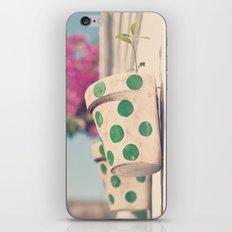 Nature and polka dots iPhone & iPod Skin