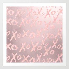 Blush LOVE - XOXO - Kunstdrucke