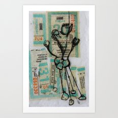 MuNi Transfer Atom Art Print