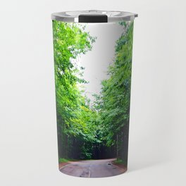 Winding Road in Forest Travel Mug