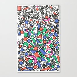 The Little Things Add Up - Ink on paper Canvas Print