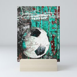 Soccer ball vs 9 Mini Art Print