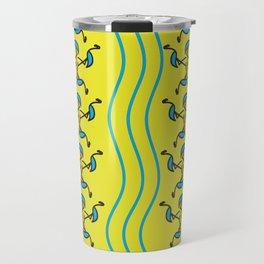 Contemporary Artwork Design Flamingos Travel Mug