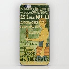 Emile Muller ceramist Paris iPhone Skin