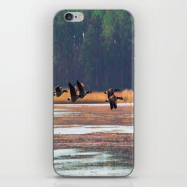 Flying Canadian Geese iPhone Skin