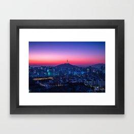 Twilight Seoul Framed Art Print