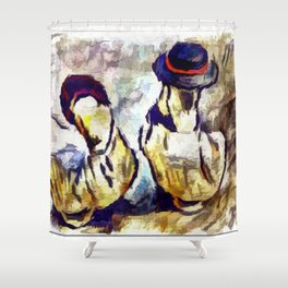 Still Life Art Of Ducks Shower Curtain
