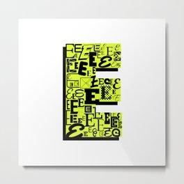 Letter E Metal Print
