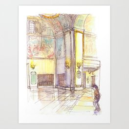 Golden Rotunda Art Print