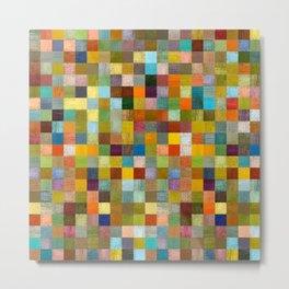 Squares in Rustic Form Metal Print