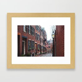 Acorn Street in Boston Framed Art Print