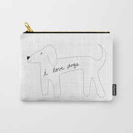 I love dogs. Carry-All Pouch