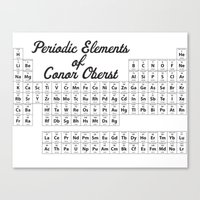 periodic table Canvas Prints featuring Periodic Table Of Oberst by mikeydoesit