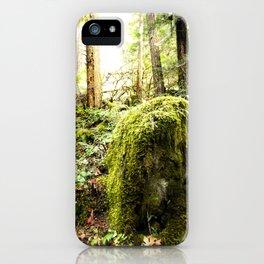 Mossy Boulder, Oregon, trail iPhone Case