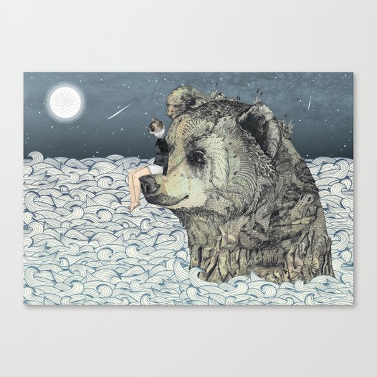 Bear Rock Canvas Print