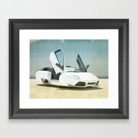 Hover car Framed Art Print