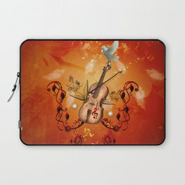 Violin with violin bow and dove Laptop Sleeve