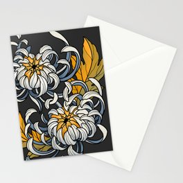 Entwined Chrysanthemums Stationery Cards