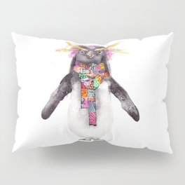 Penguin in a scarf (female) Pillow Sham