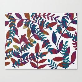 Watercolor branches - multicolor Canvas Print