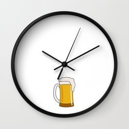 I would Exercise But it Makes Me Spill My Beer T-Shirt Wall Clock