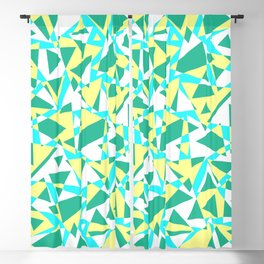 Pieces of colorful broken glass in summer colors Blackout Curtain