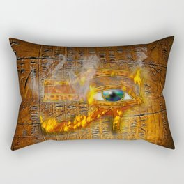 The Prophecy of Fire - Ancient Egypt Eye of Horus Rectangular Pillow