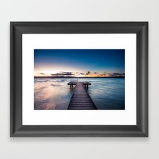 a stormy day ends Framed Art Print