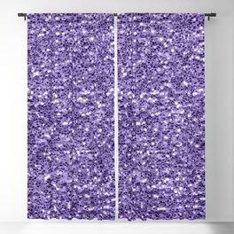 Ultra violet purple glitter sparkles Blackout Curtain