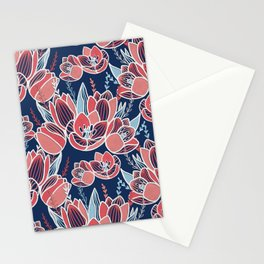 Papercut tulips Stationery Cards