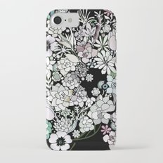 Colorful black detailed floral pattern Slim Case iPhone 7