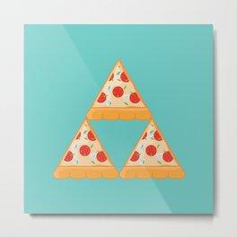Tri-Pizza Metal Print