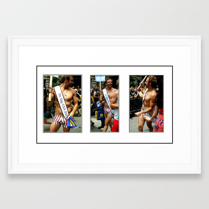 Mr. Gay USA Framed Art Print