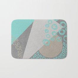 Geometry and sprinkles Bath Mat