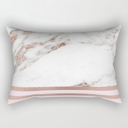 Geometric marble - luxe rose gold edition IV Rectangular Pillow