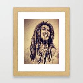 The King of Reggae Framed Art Print