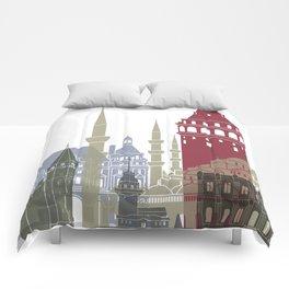 Istanbul skyline poster Comforters