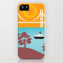 San Francisco, California - Skyline Illustration by Loose Petals iPhone Case