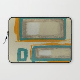 Soft And Bold Rothko Inspired - Corbin Henry Modern Art - Teal Blue Orange Beige Laptop Sleeve