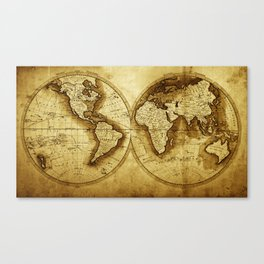Antique Map of the World Canvas Print